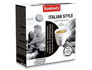 Rombouts koffiepods Italian Style 16st 123 Spresso systeem