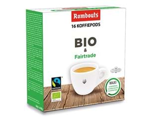 Rombouts koffiepods Bio & Fairtrade 16st 123 Spresso systeem