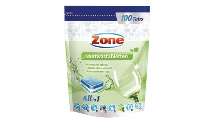 Zone vaatwastabletten All-in-one 100st