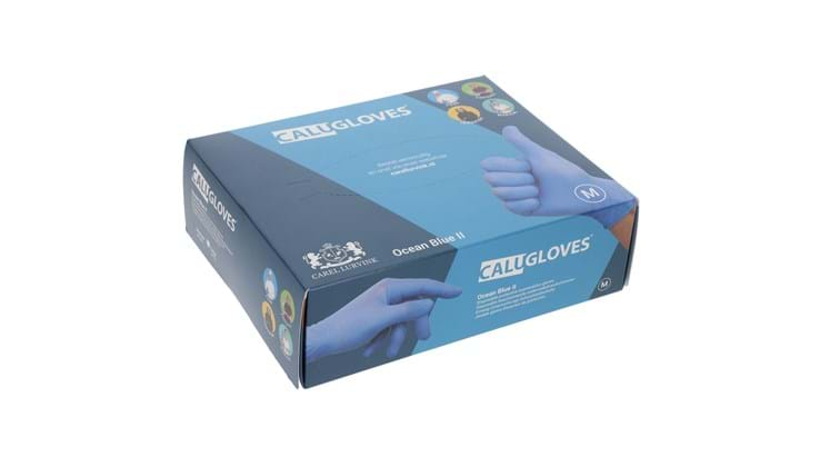 CaluGloves Ocean Blue II nitrile disposable handschoenen maat M 200st