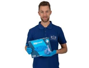 CaluGloves Food Ocean Blue nitrile disposable handschoenen maat S 200 stuks