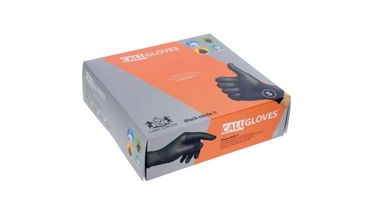 CaluGloves Black Nitrile II disposable  handschoenen maat S 200st
